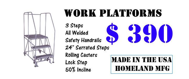 3 step work platform