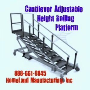 Cantilever Has Adjustable Height & Articulating Stairs