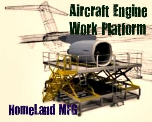 aircraft engine work platform