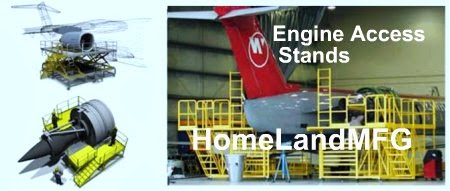 Aircraft Maintenance Stand Especially Designed For Easy Access