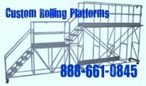 Aircraft Rolling Work Platform
