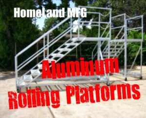 Aluminum Rolling  Platform With Locking Wheels and Top Safety Chain