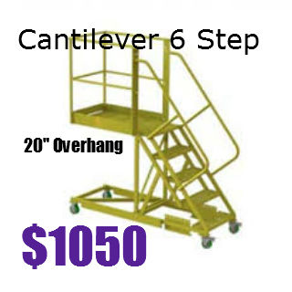 Cantilever 6 step ladder