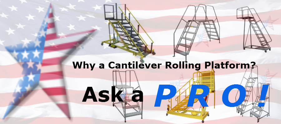 Cantilever Ladders Cantilever Rolling Ladder Call A Pro