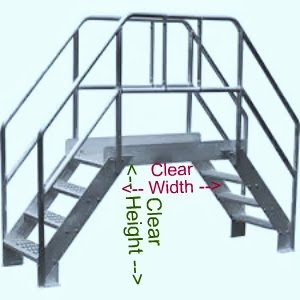 Rolling Double Stairwayr 5 Step 865
