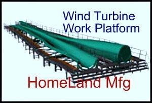 Custom Wind Turbine Work Platform