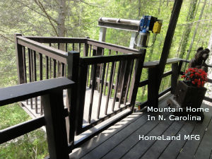 Dumberwaiter Cargo Lift: N. Carolina Mountain Home Installation