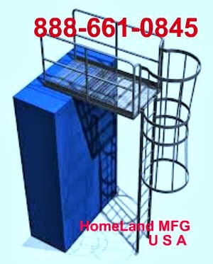 Fixed steel ladder