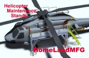 Helicopter Maintenance Rolling Platforms