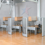 Office Dividers, RIZE Modular Work Station Units