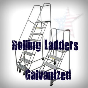 Rolling Galvanized Ladder
