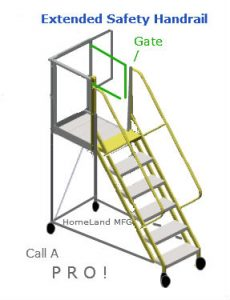 Safety Gate and Extended Handrail