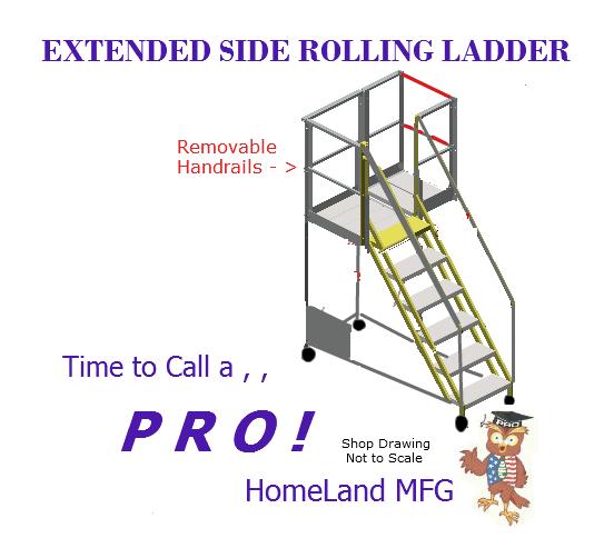 Warehouse Ladder, OSHA Safety Compliant - HomeLand MFG