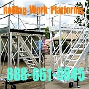 Custom Rolling Maintenance Platforms