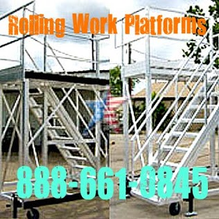 Custom Rolling Maintenance Platforms