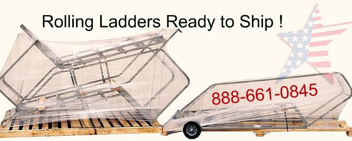 Rolling ladder shipping1 Ladder Buyers Guide