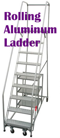 Rolling safety ladder a