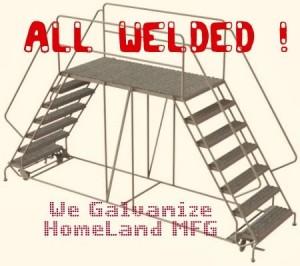 Welded Rolling work platform. 2