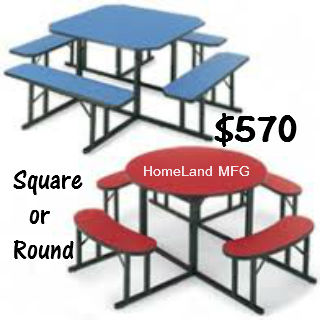 cafeteria tables homeland manufacturing inc