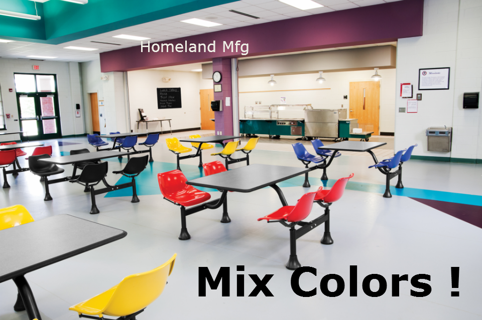 Cafeteria Seating Mix Or Match Colors 888 661 0845 Fast