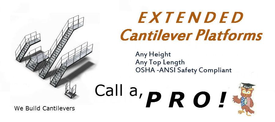 Cantilever Rolling Ladder Overhang Ladder 888 661 0845