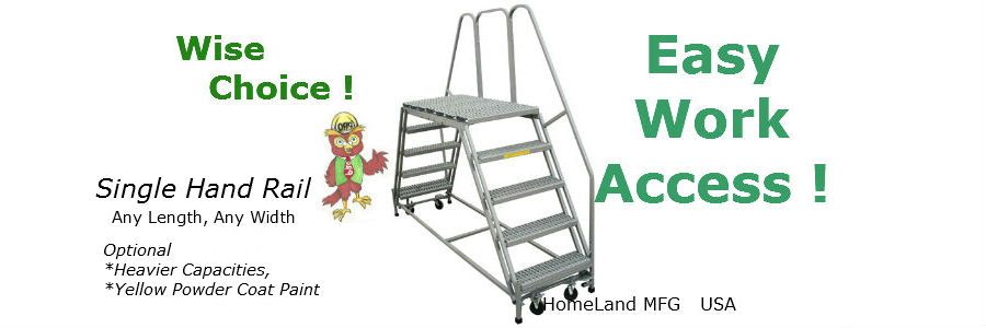 double entry rolling platform ladder