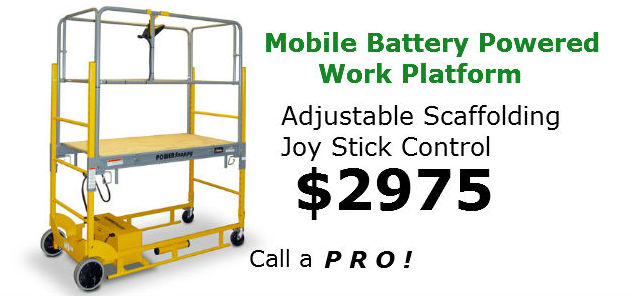 Mobile Work Platform Battery Powered Scaffolding 2975
