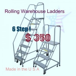 rolling 6 step ladder