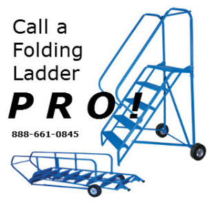 rolling and folding ladder