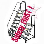 Rolling Safety Ladders, seen Home Garden Stores, Call a PRO