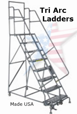 rolling tri arc ladder