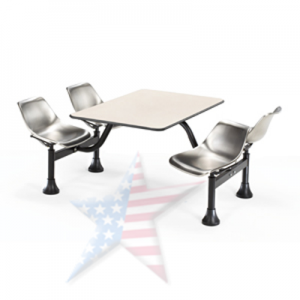 Cafeteria Stainless Steel Seating,