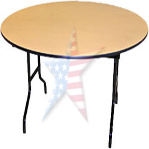 every day folding round table laminate top