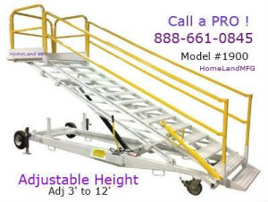 adjustable maintenance stand with self leveling steps