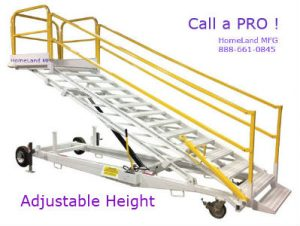 mobile work platform adjustable height