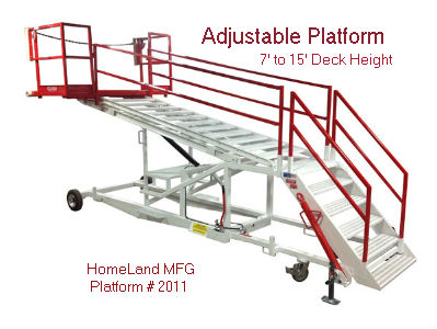 Adjustable work platform 7' to 15'
