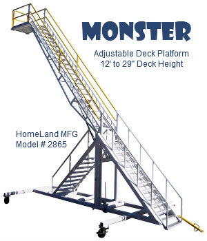 adjustable maintenance stand double decker