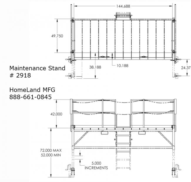 adjustable maintenance stand 15F2918