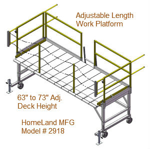 Adjustable work platform, 15F2918_maintenance_stand