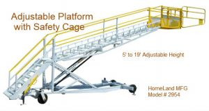Adjustable work platform 5' to 19'