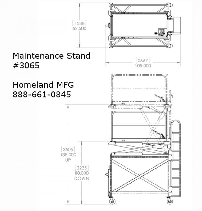 adjustable maintenace stand