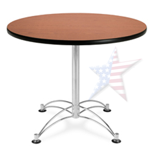 "36"" round table with chrome base"