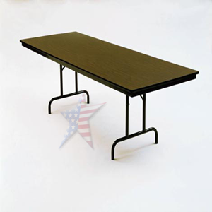 folding table brown rectangle top