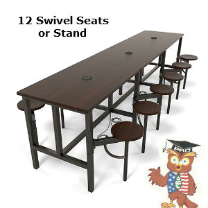 cafeteria seating 12 person