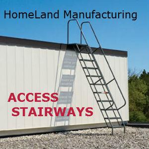 access stairway for steel buildings