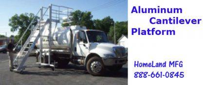 cantilever side exit aluminum ladder for trucks
