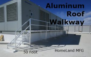 Aluminum ladder with decking