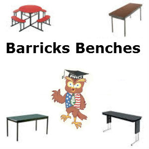 Barricks cafeteria bench