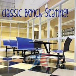 Cafeteria table fast food seating benches OFM 1006M