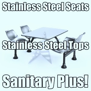 Cafeteria Seating 1004ss affordable stainless steel